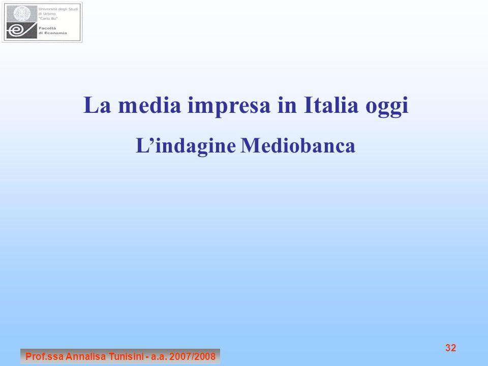 La media impresa in Italia oggi