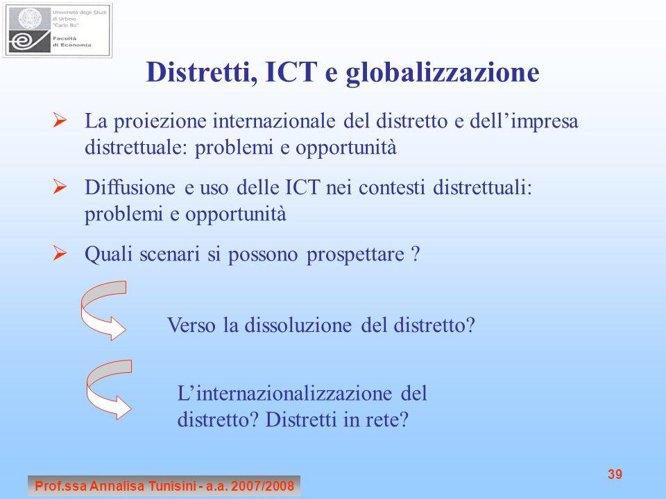 Distretti, ICT e globalizzazione
