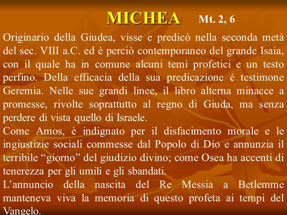 MICHEA Mt. 2, 6.