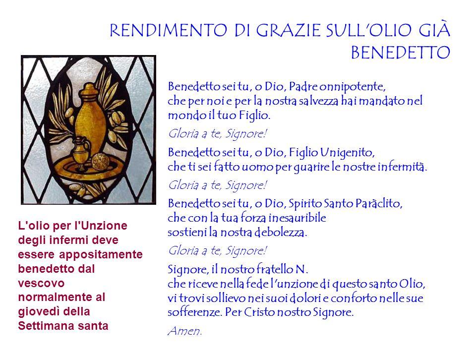 RENDIMENTO DI GRAZIE SULL OLIO GIÀ BENEDETTO