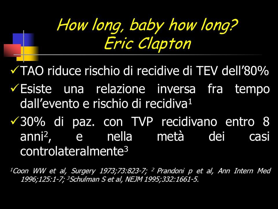 How long, baby how long Eric Clapton