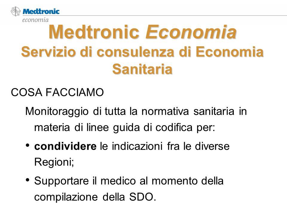 Medtronic Economia Servizio di consulenza di Economia Sanitaria