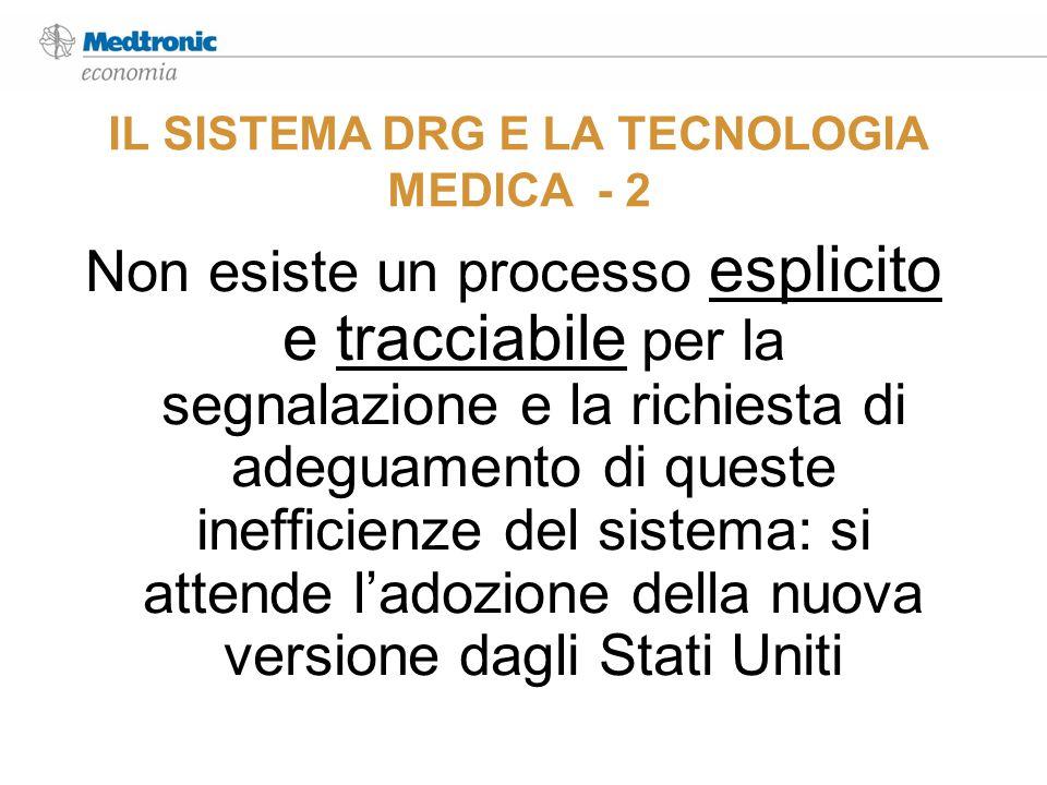 IL SISTEMA DRG E LA TECNOLOGIA MEDICA - 2