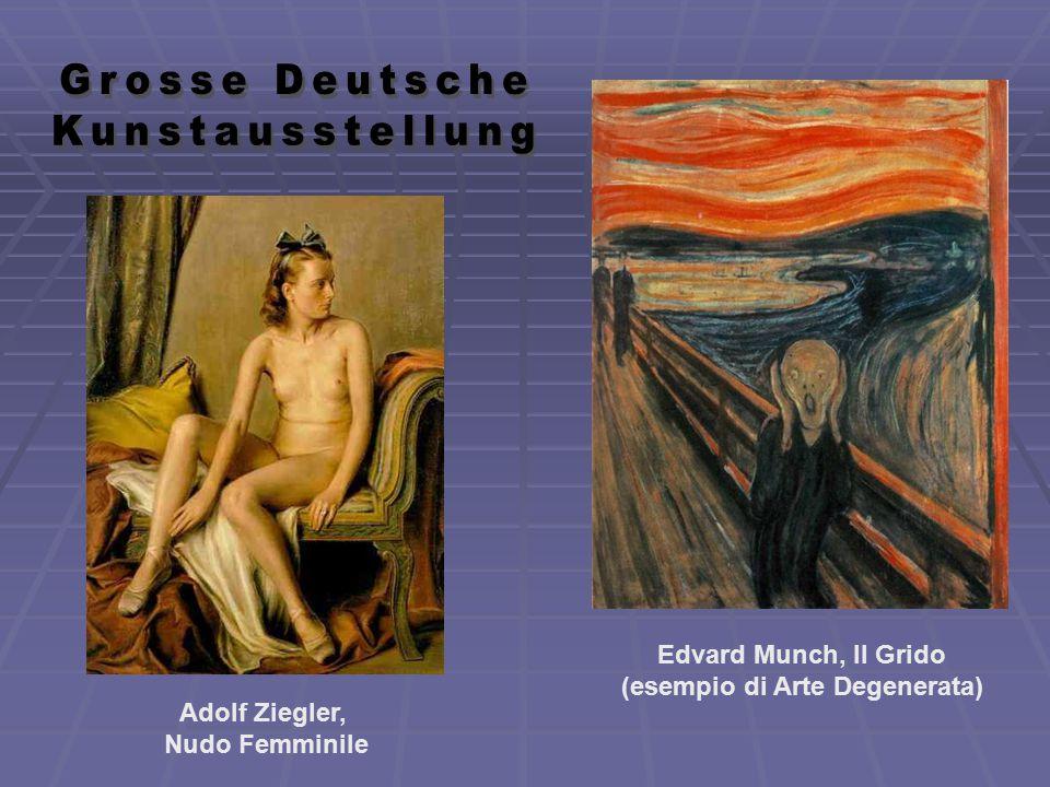 Edvard Munch, Il Grido (esempio di Arte Degenerata)