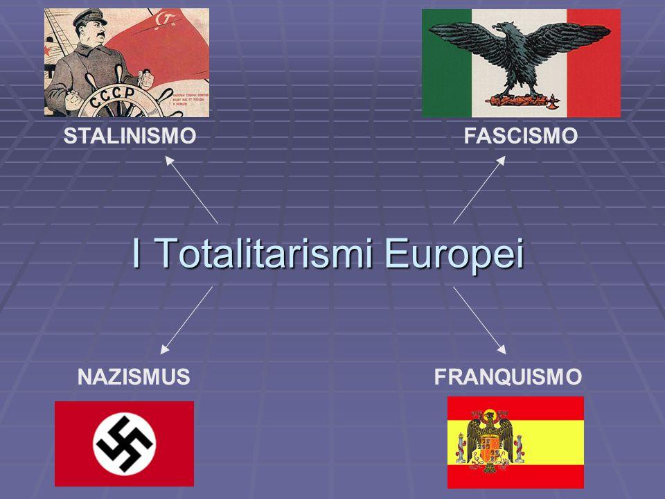 I Totalitarismi Europei