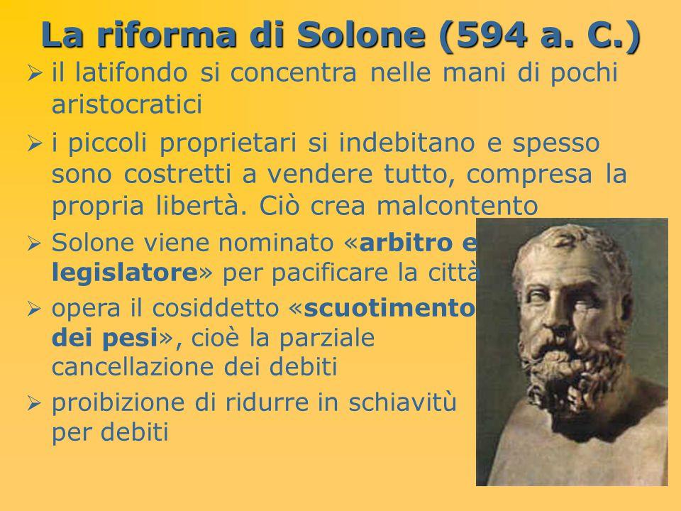 La riforma di Solone (594 a. C.)