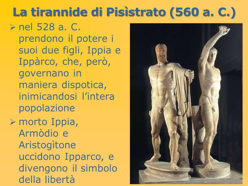 La tirannide di Pisìstrato (560 a. C.)