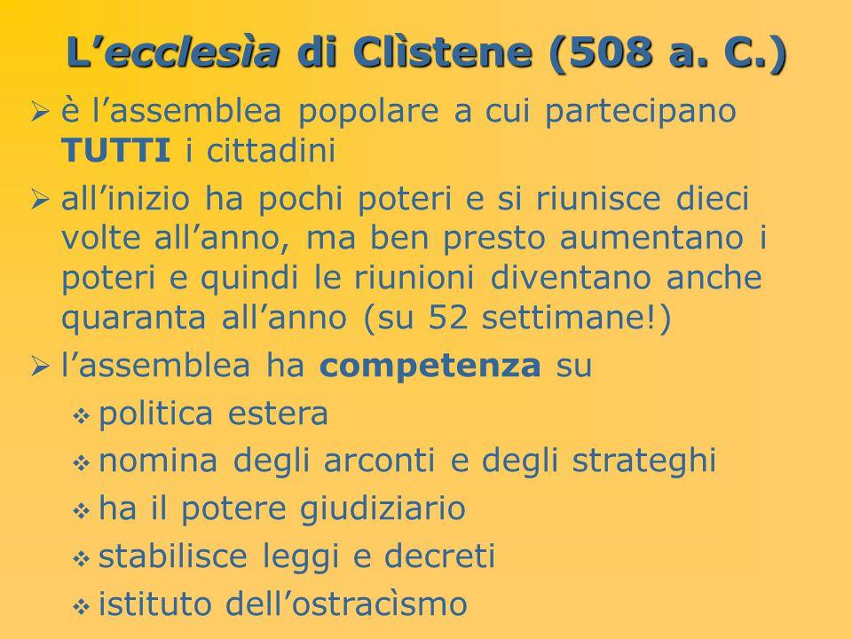 L'ecclesìa di Clìstene (508 a. C.)