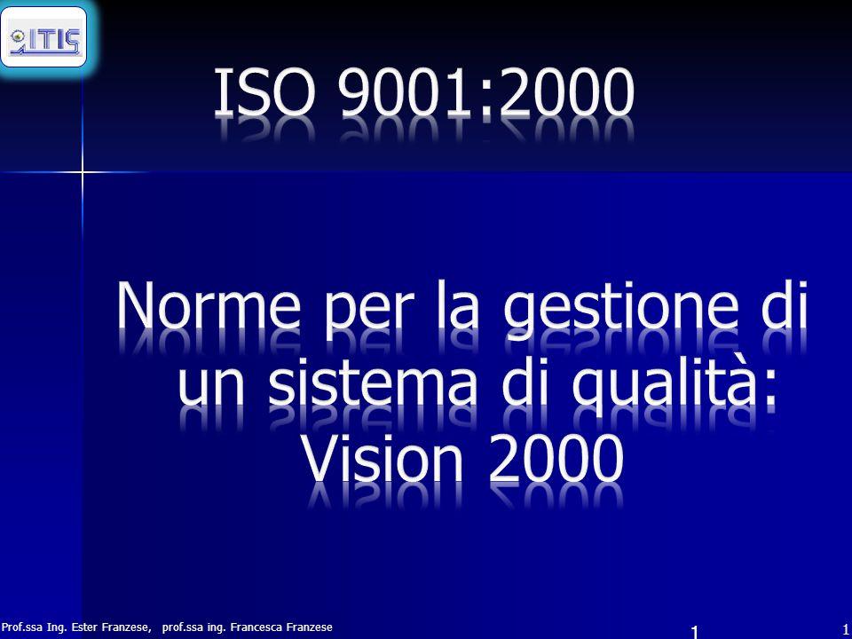 Norme per la gestione di un sistema di qualità: