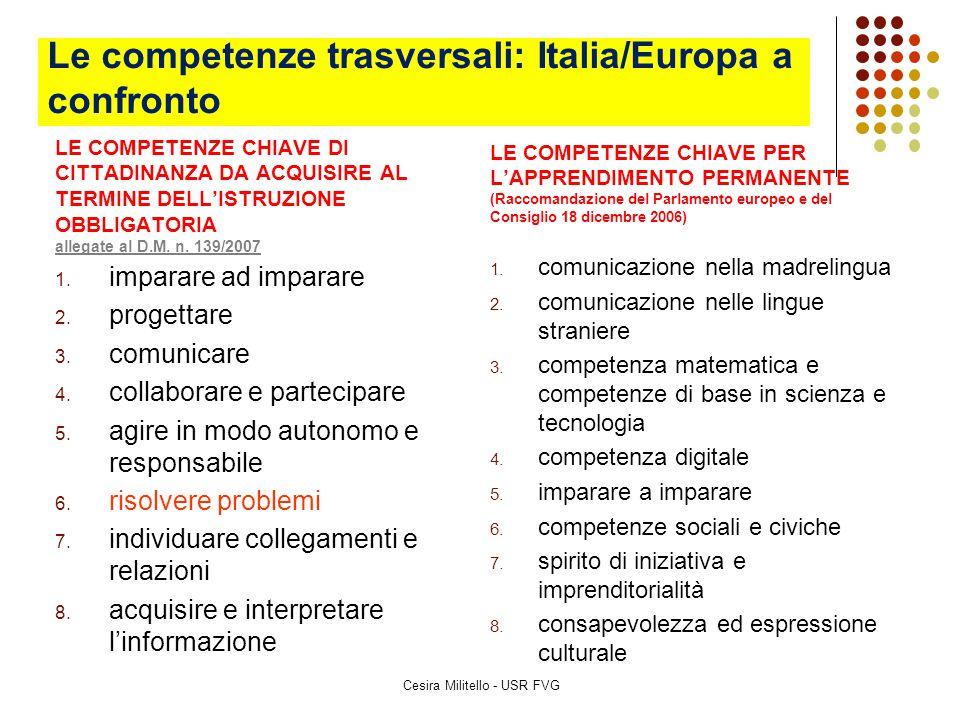 Le competenze trasversali: Italia/Europa a confronto