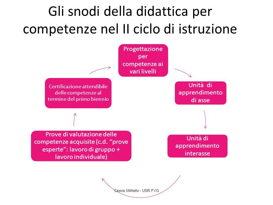 Gli snodi della didattica per competenze nel II ciclo di istruzione
