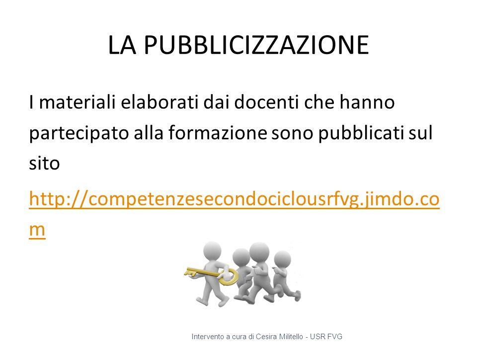 LA PUBBLICIZZAZIONE