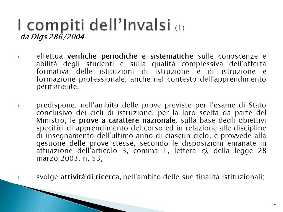 I compiti dell'Invalsi (1)