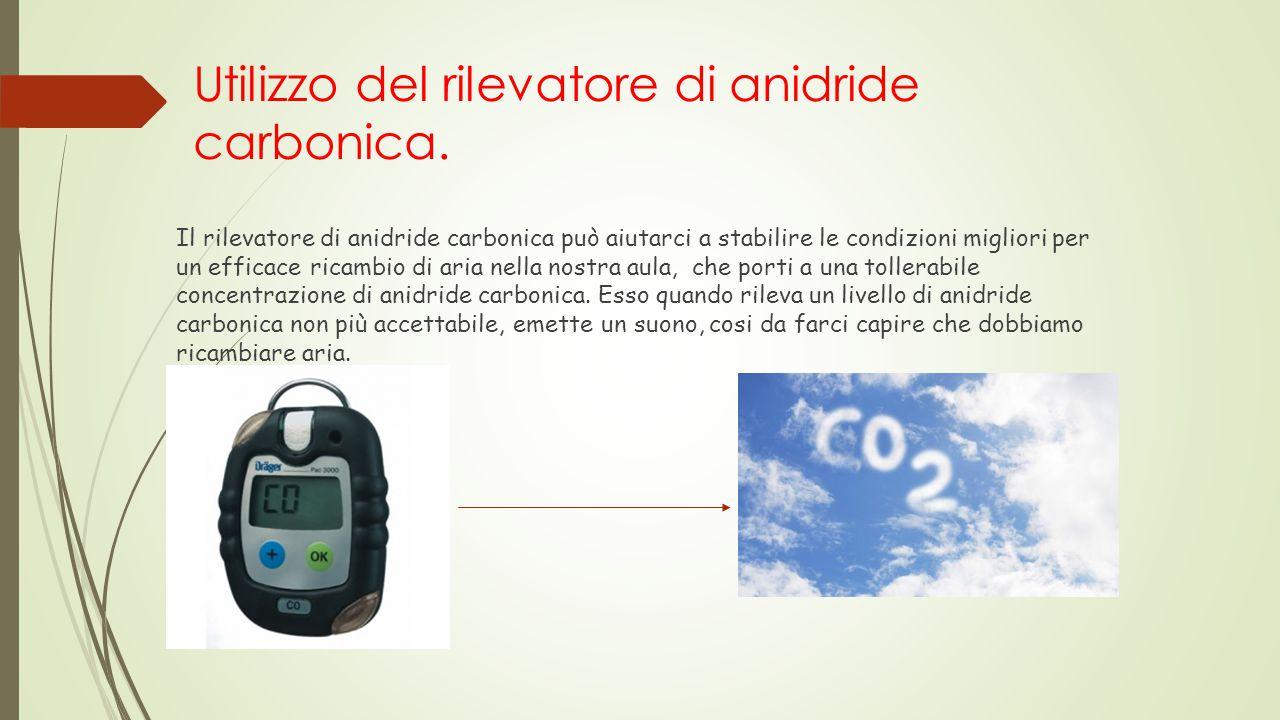 Utilizzo del rilevatore di anidride carbonica.