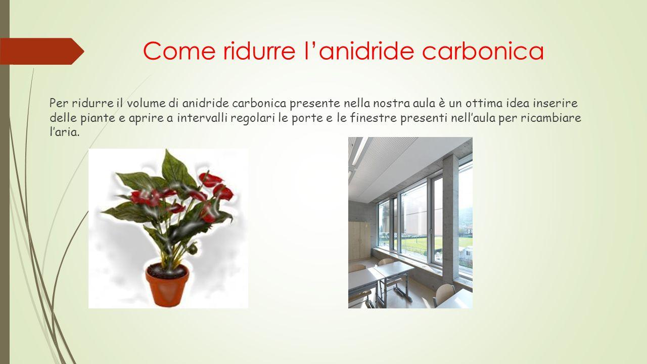 Come ridurre l'anidride carbonica