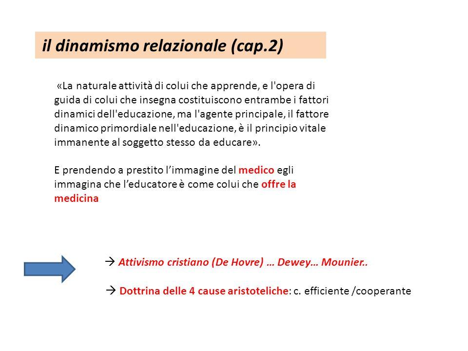 il dinamismo relazionale (cap.2)