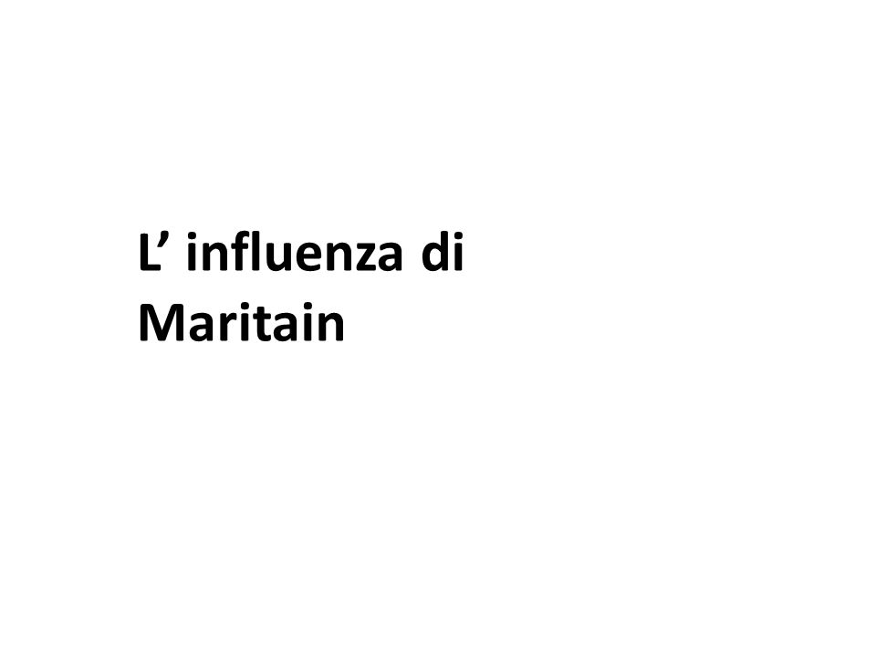L' influenza di Maritain