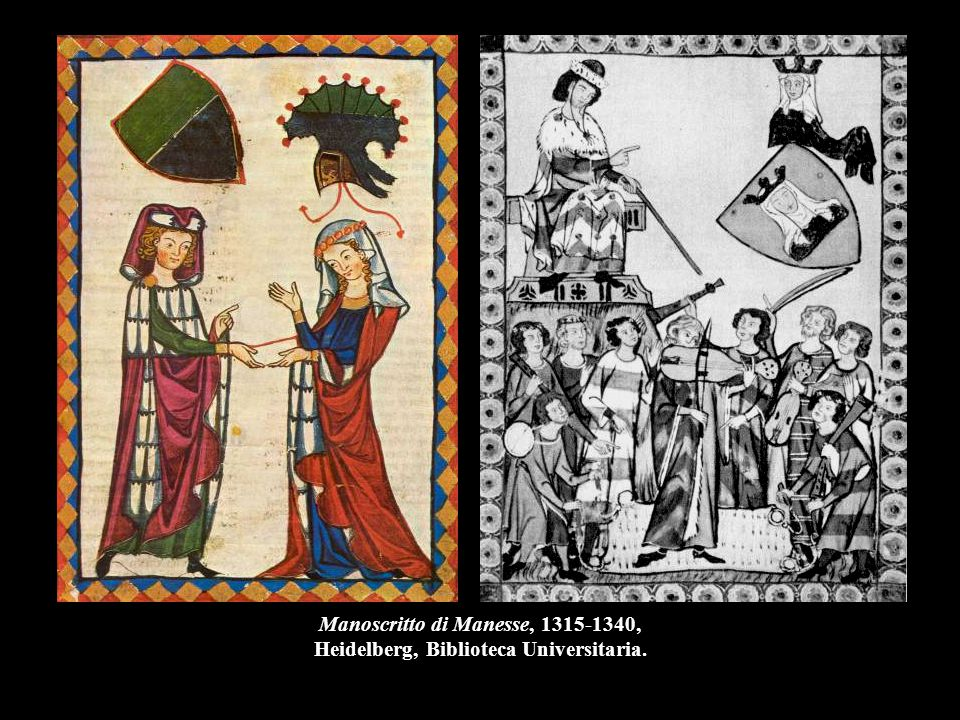 Manoscritto di Manesse, 1315-1340, Heidelberg, Biblioteca Universitaria.