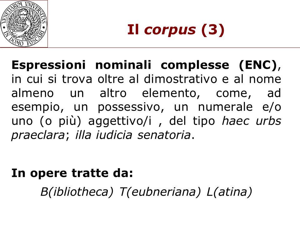 Il corpus (3)