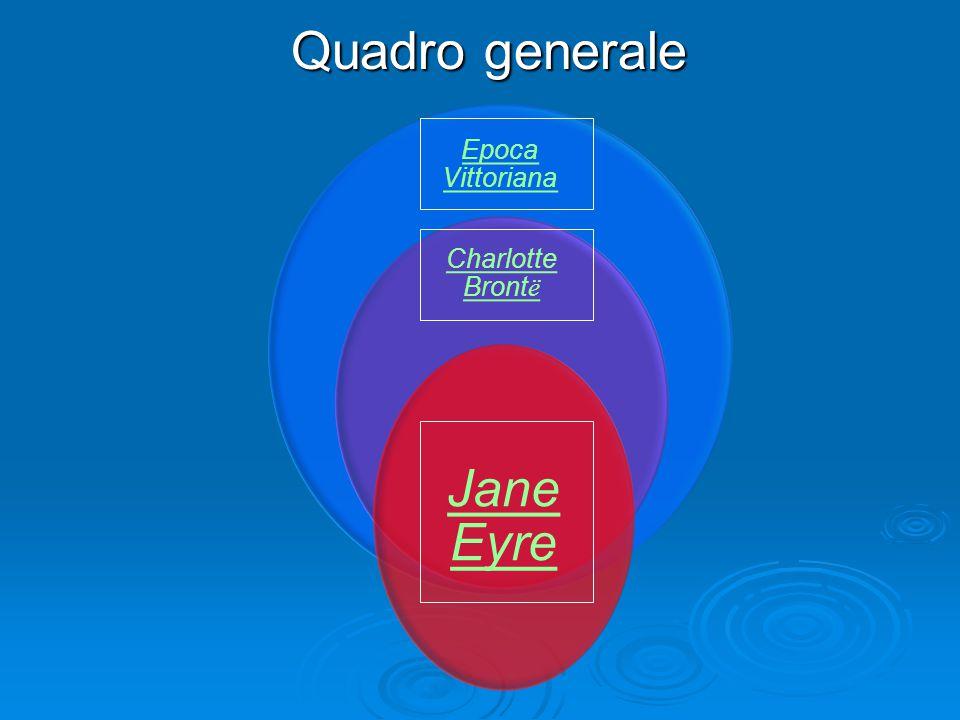 Quadro generale Epoca Vittoriana Charlotte Brontë Jane Eyre