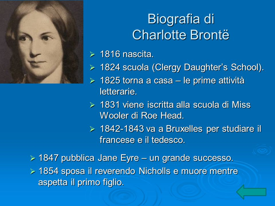 Biografia di Charlotte Brontë