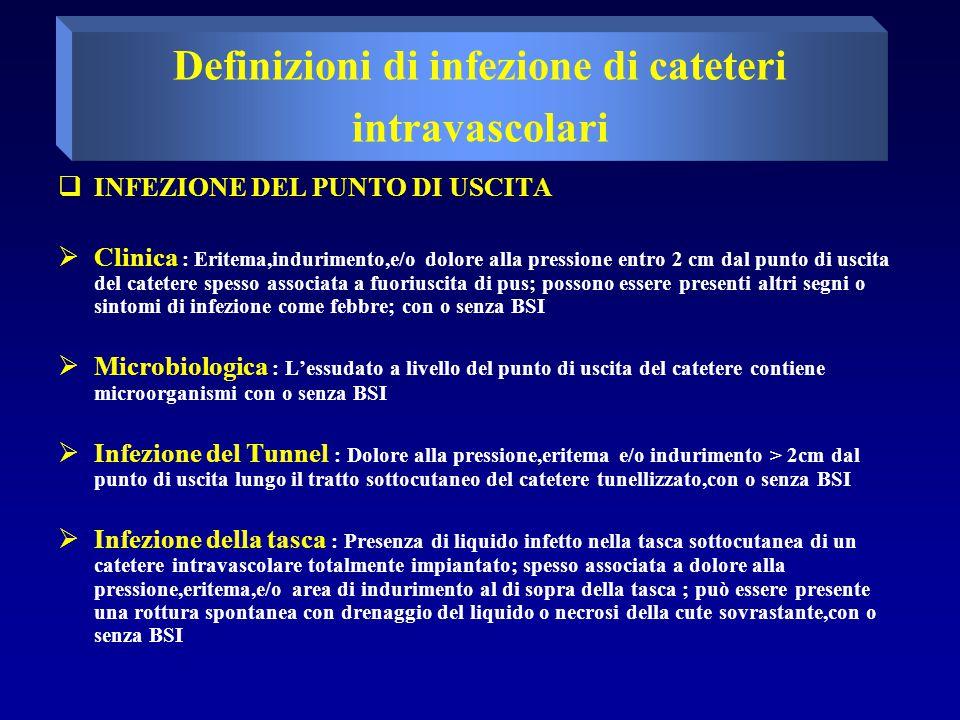Definizioni di infezione di cateteri intravascolari