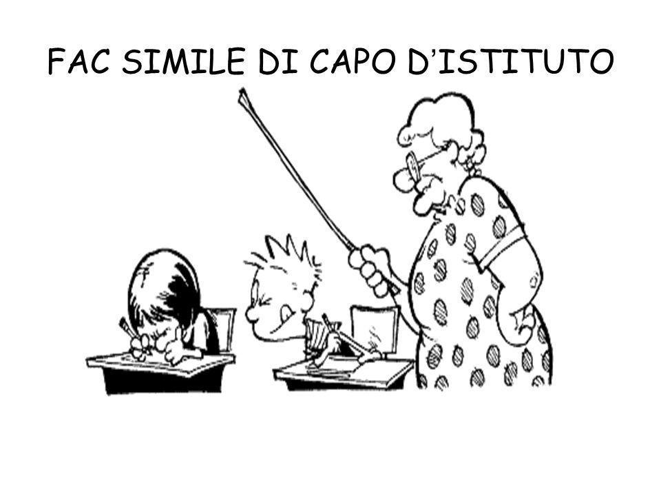 FAC SIMILE DI CAPO D'ISTITUTO