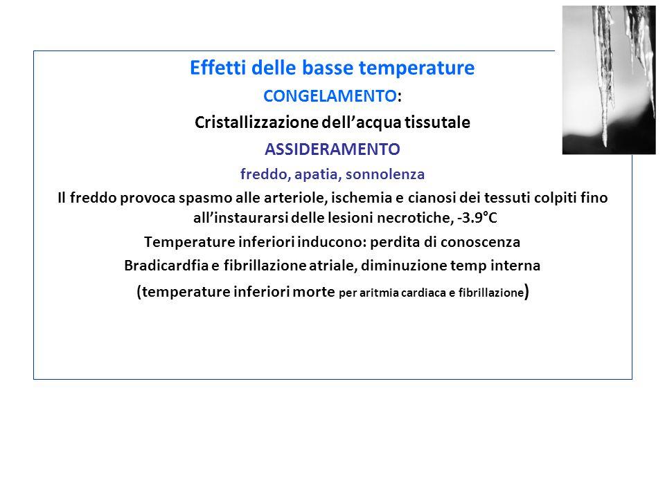 Effetti delle basse temperature