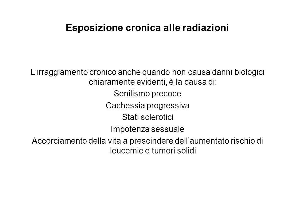 Esposizione cronica alle radiazioni