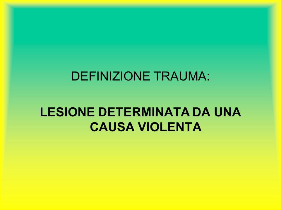 LESIONE DETERMINATA DA UNA CAUSA VIOLENTA