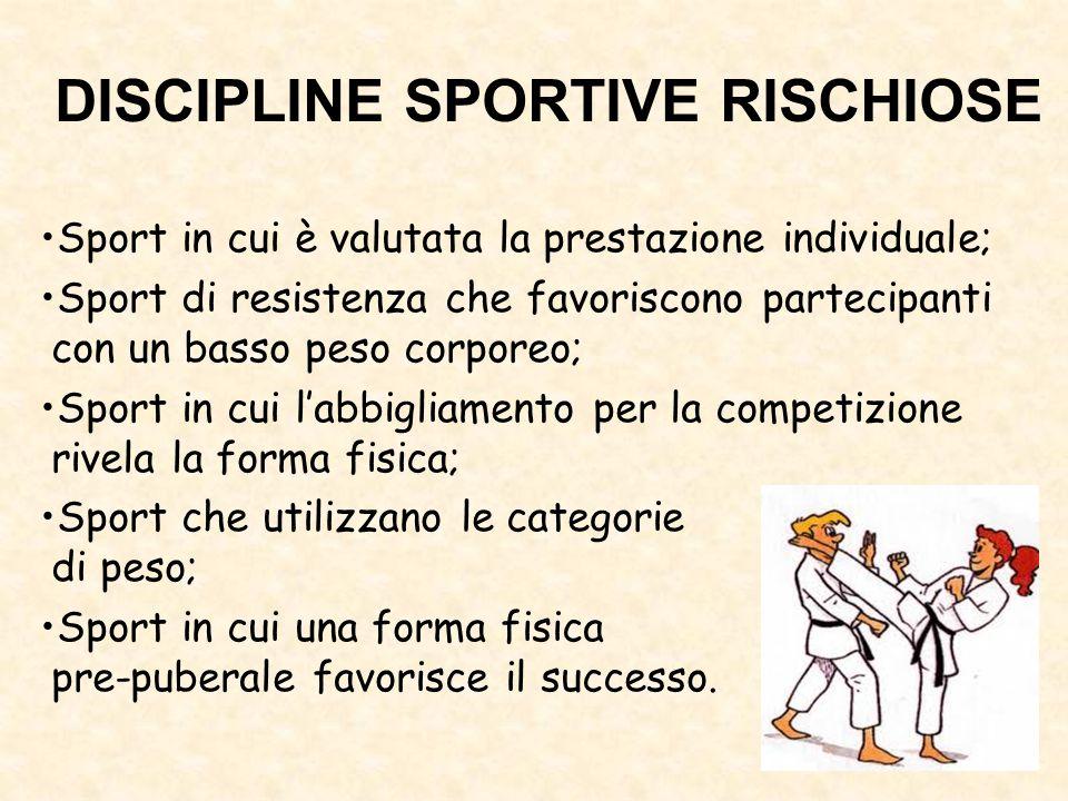 DISCIPLINE SPORTIVE RISCHIOSE