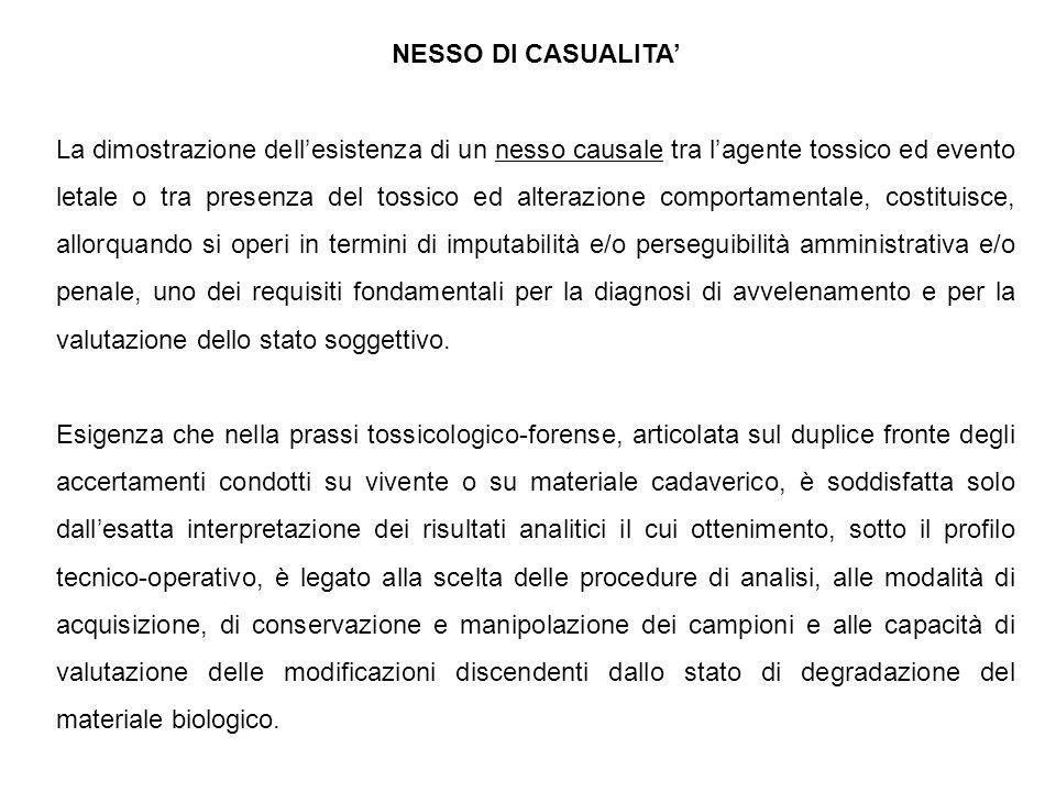 NESSO DI CASUALITA'