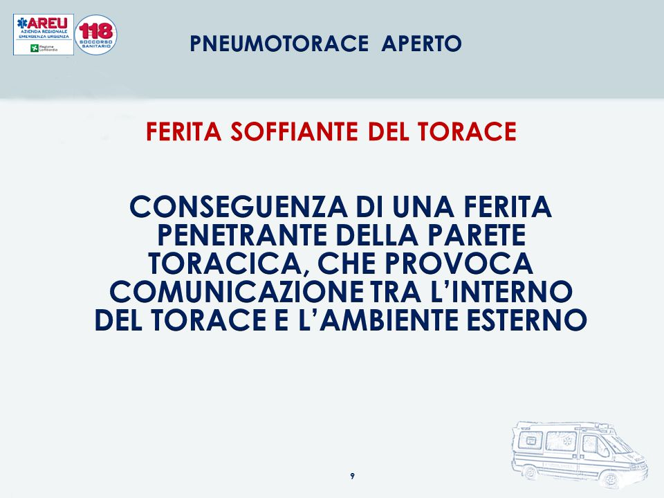 FERITA SOFFIANTE DEL TORACE