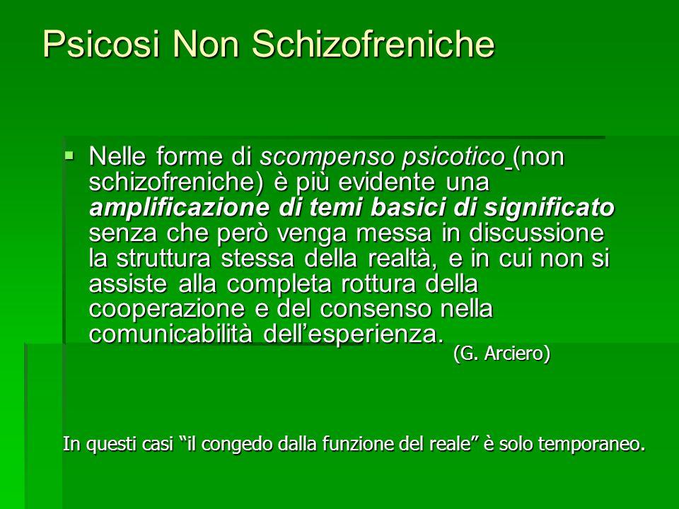 Psicosi Non Schizofreniche