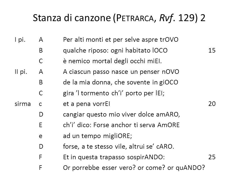 Stanza di canzone (Petrarca, Rvf. 129) 2