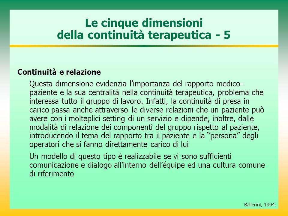 Le cinque dimensioni della continuità terapeutica - 5