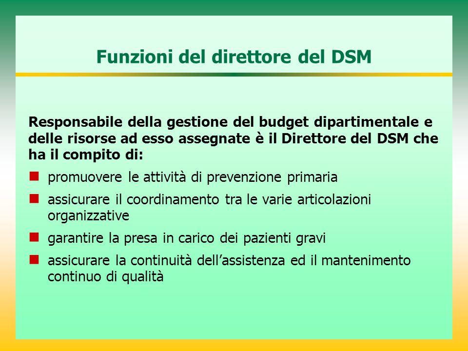 Funzioni del direttore del DSM