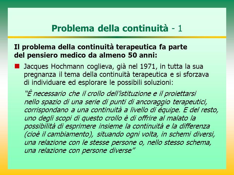 Problema della continuità - 1