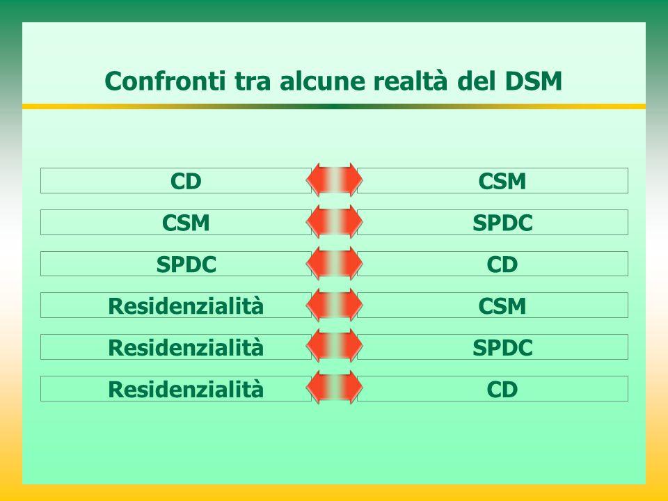 Confronti tra alcune realtà del DSM