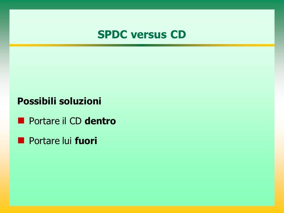 SPDC versus CD Possibili soluzioni Portare il CD dentro
