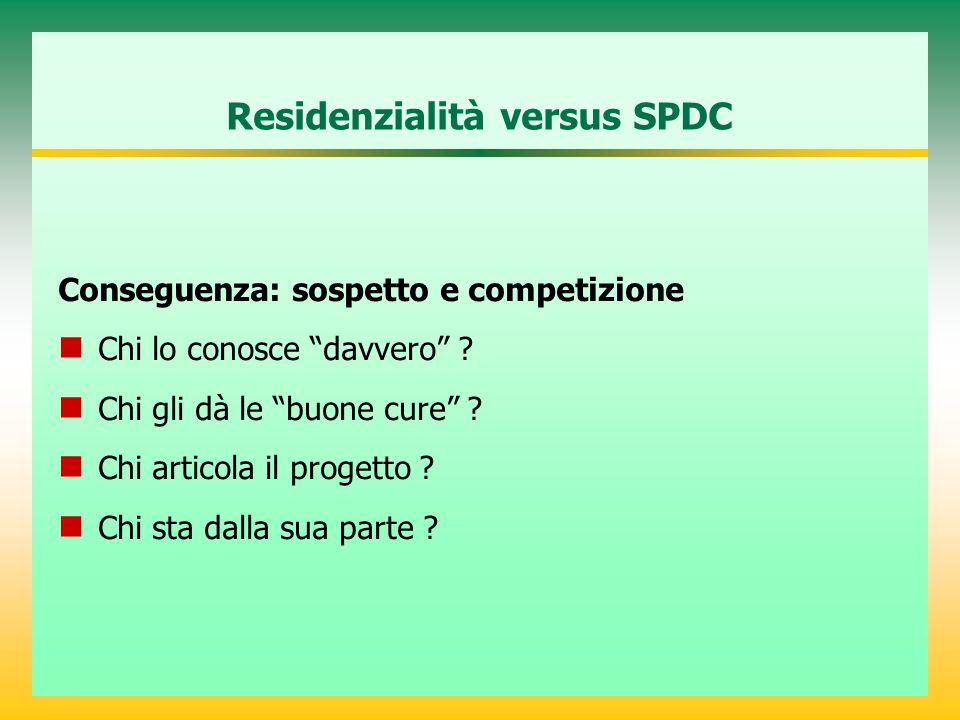 Residenzialità versus SPDC