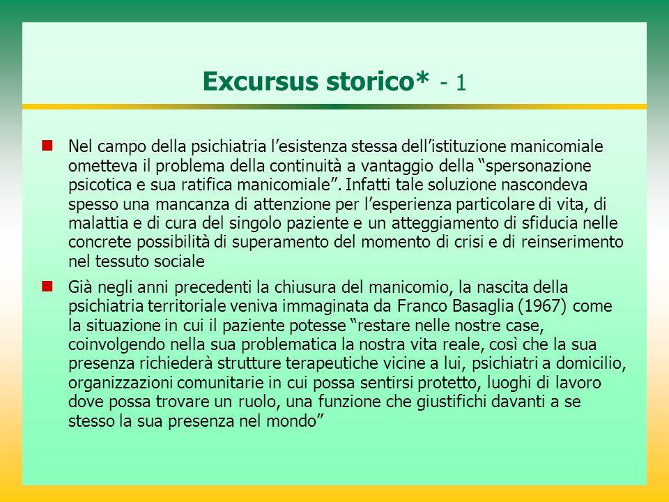 Excursus storico* - 1