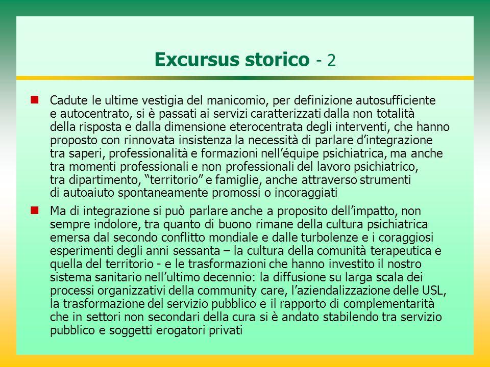 Excursus storico - 2