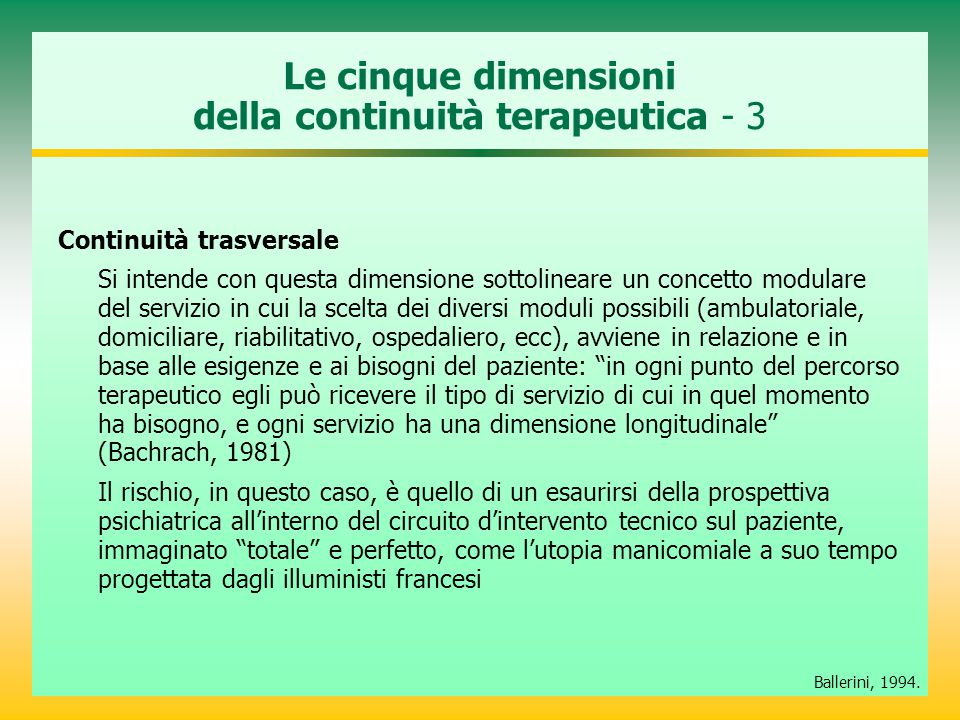Le cinque dimensioni della continuità terapeutica - 3