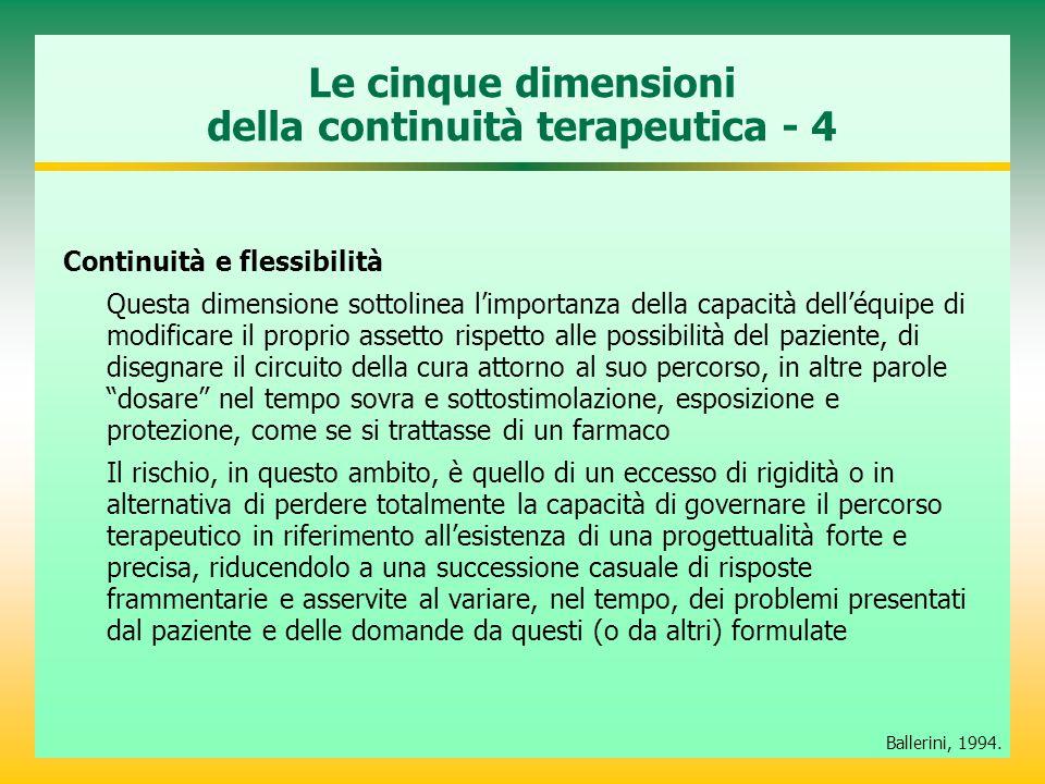 Le cinque dimensioni della continuità terapeutica - 4