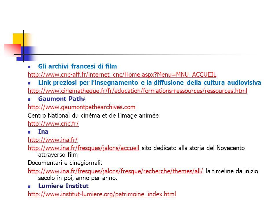 Gli archivi francesi di film