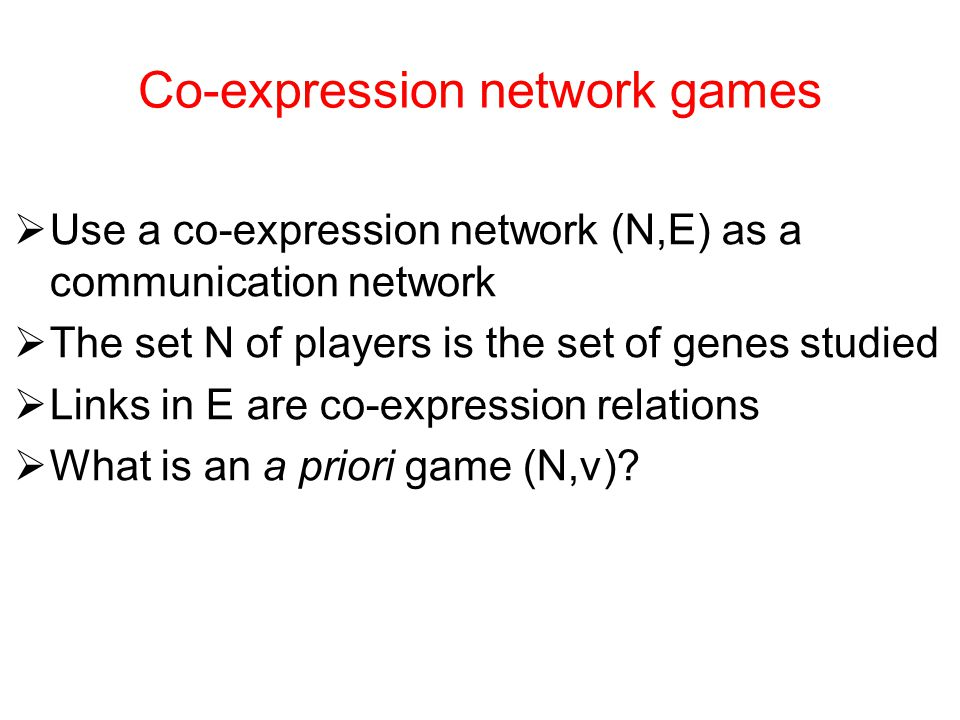 Co-expression network games
