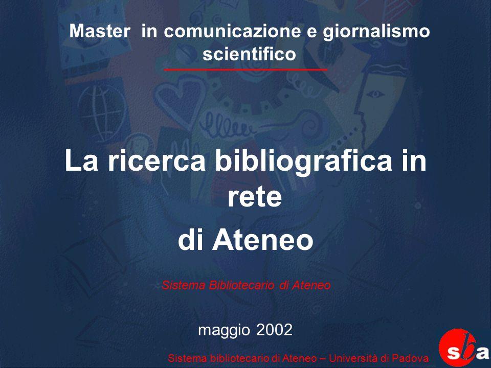 Master in comunicazione e giornalismo scientifico