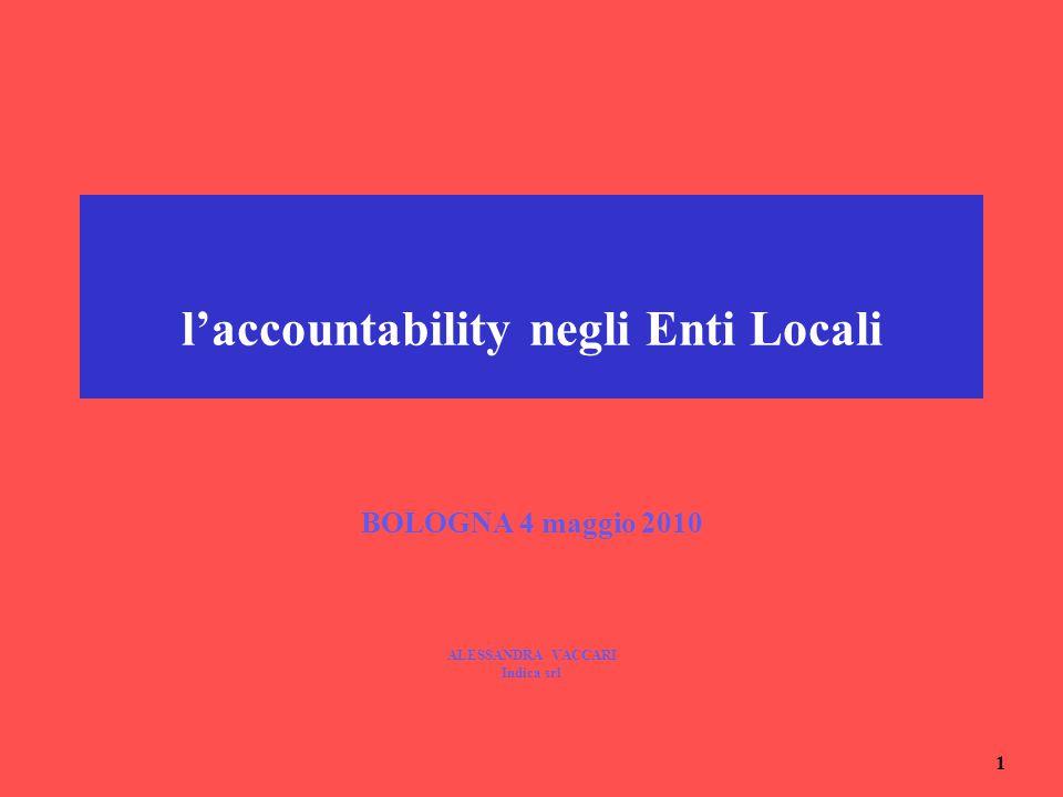 l'accountability negli Enti Locali