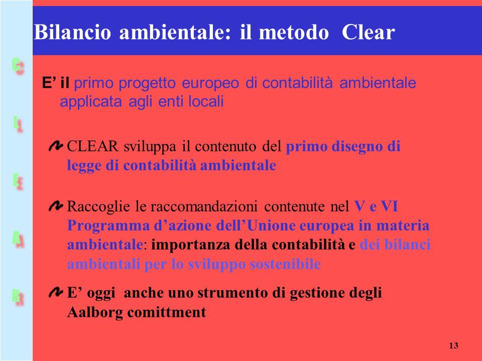 Bilancio ambientale: il metodo Clear